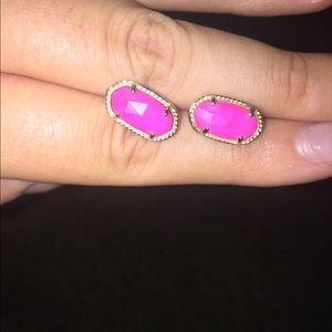 Kendra Scott magenta Ellie earrings